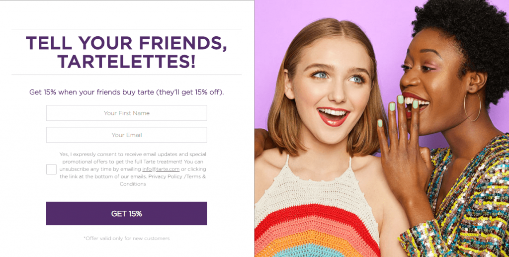 Tarte cosmetics referral program