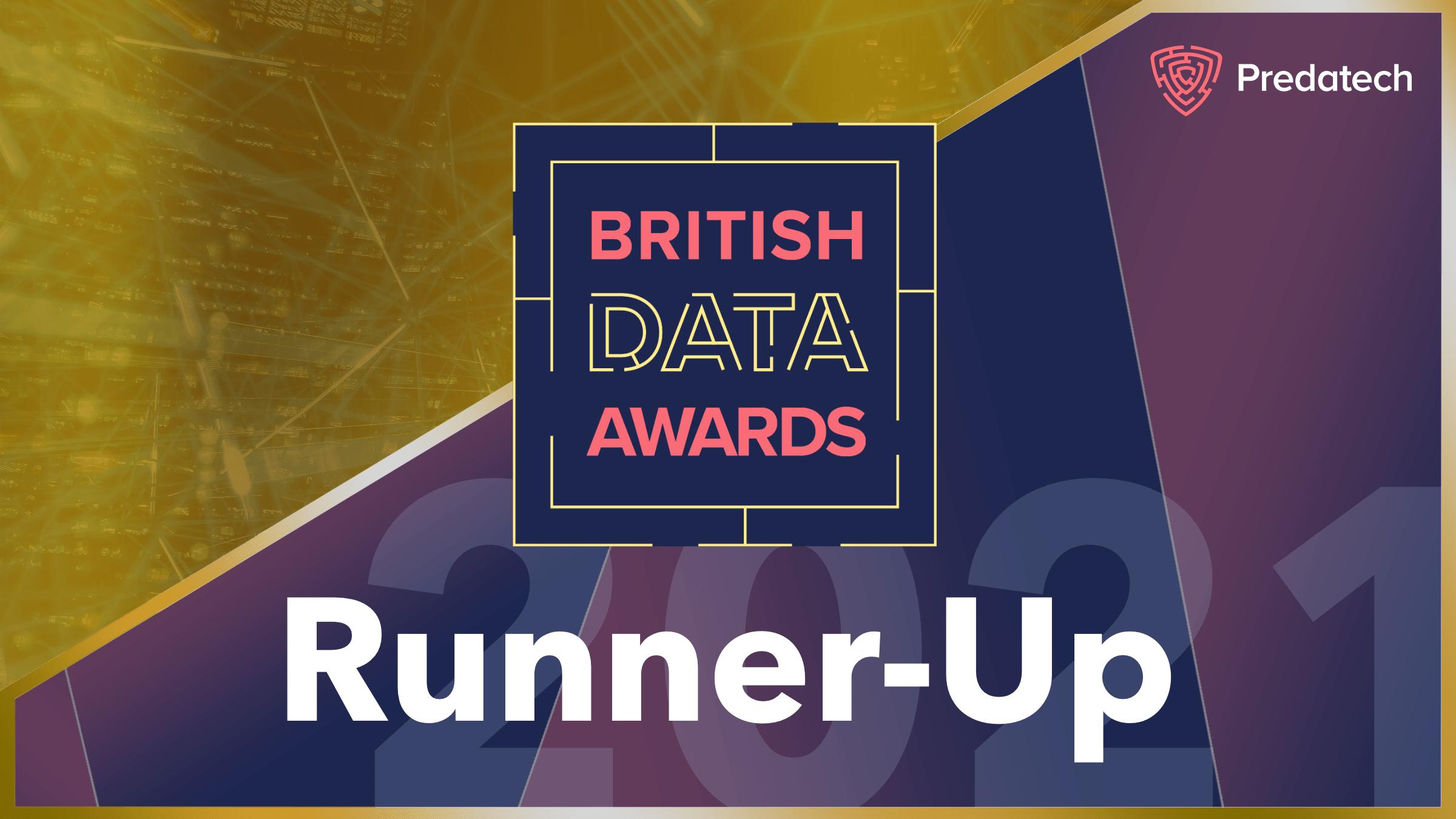 British Data Awards runner-up badge