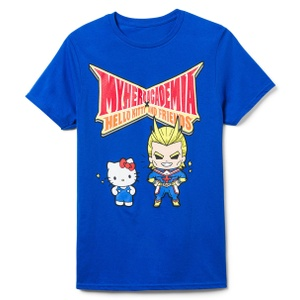 Blue Hello Kitty & My Hero Academia Graphic Tee