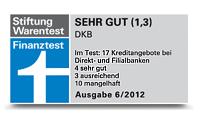 Stiftung Warentest DKB Auszeichnung