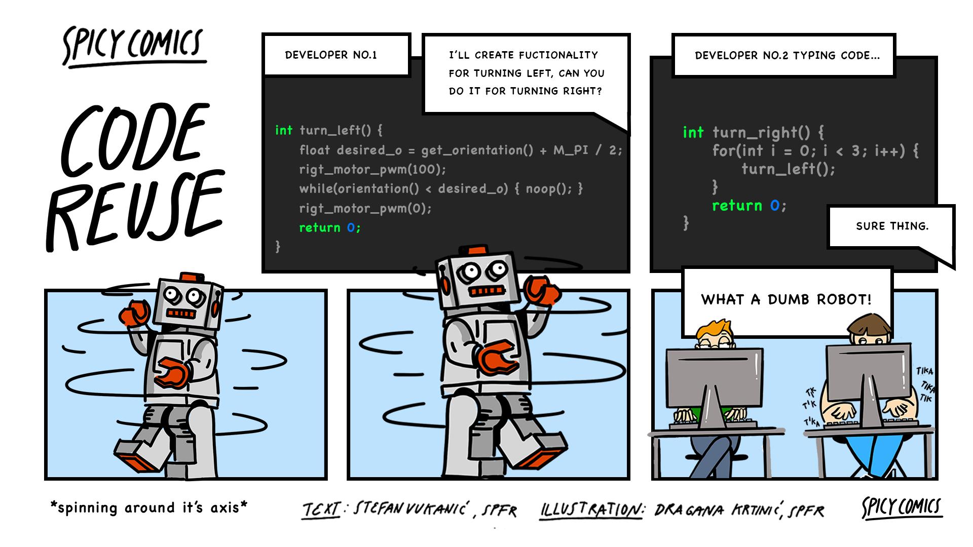 Spicy Comic #10 - Code Reuse