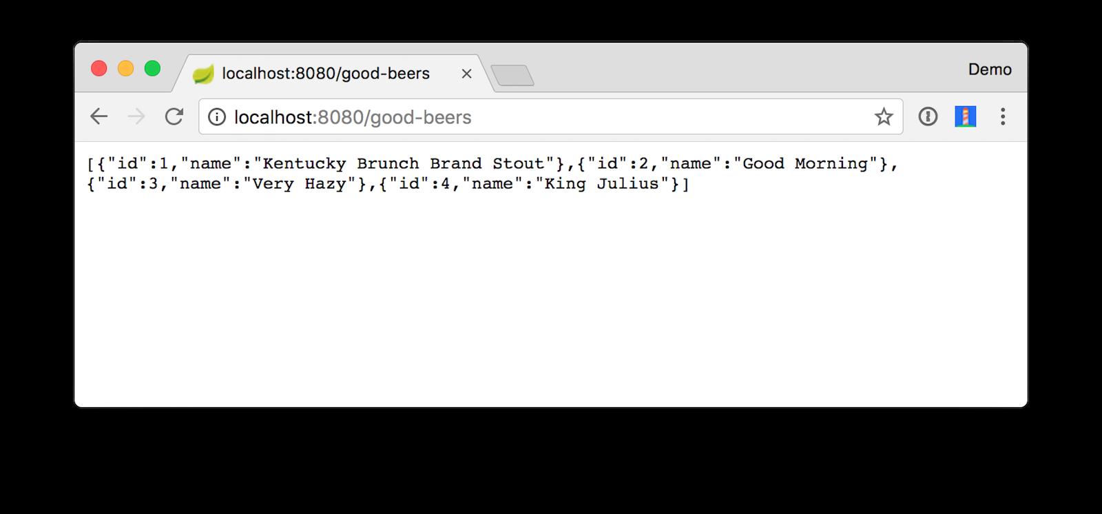 Good Beers JSON