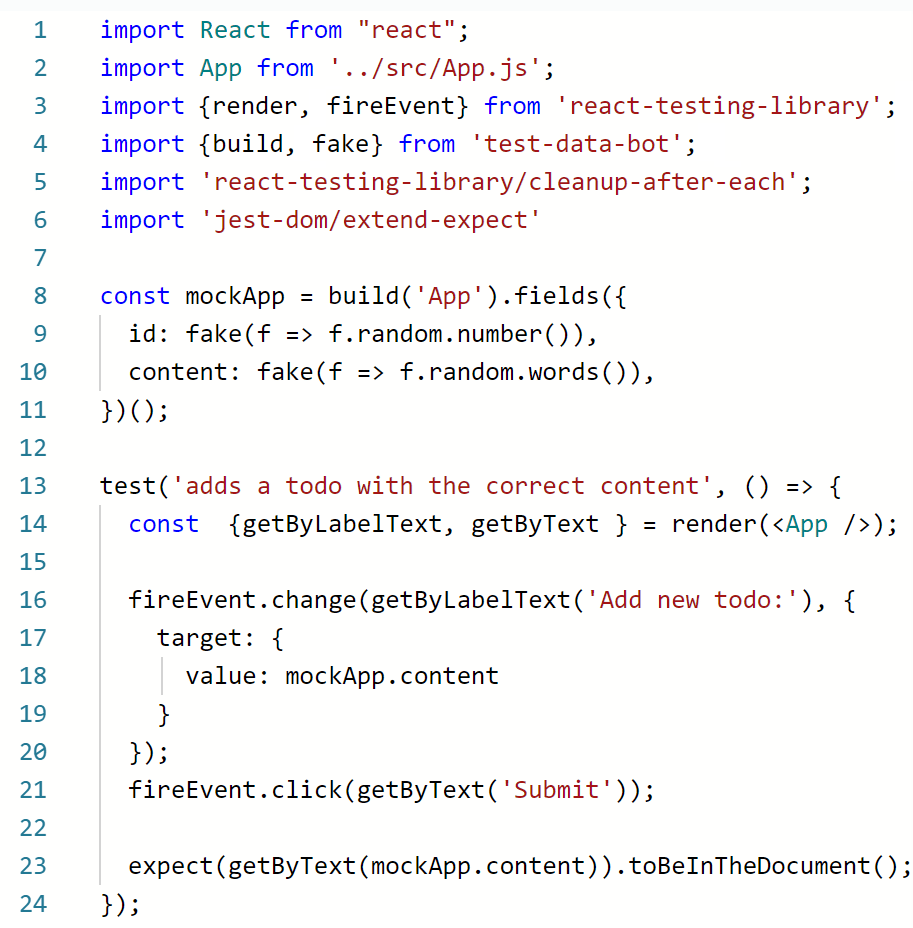 Code Preview Example