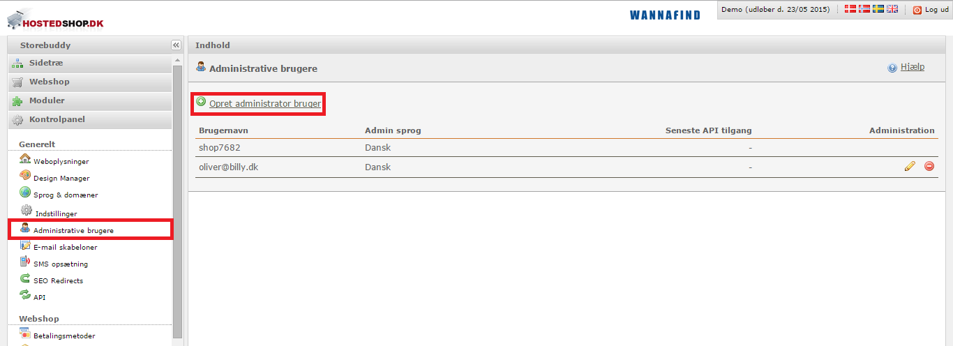 Integration med Wannafind