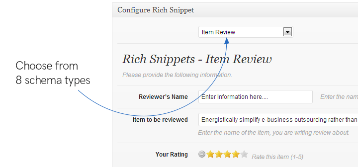 settings page of All In One Schema Rich Snippets plugin