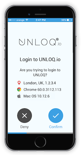 UNLOQ - Approve authentication request