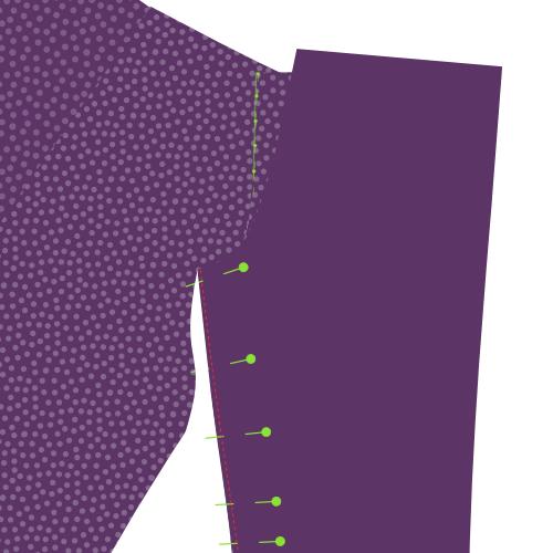 Sew the inner leg seams