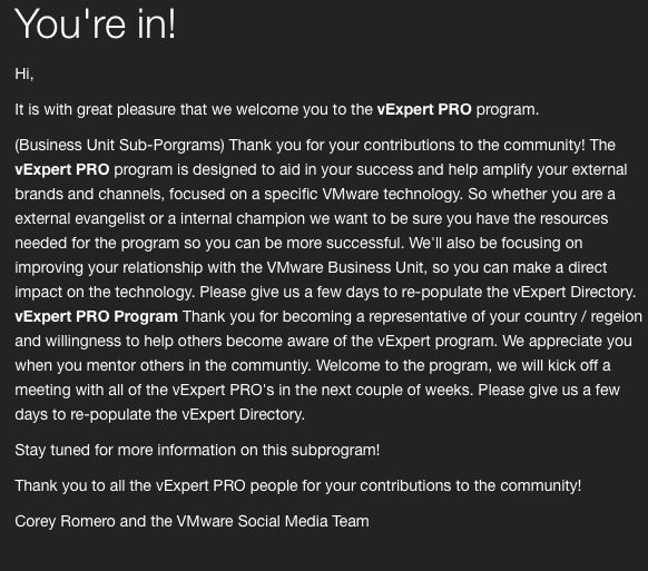vExpert Pro Email