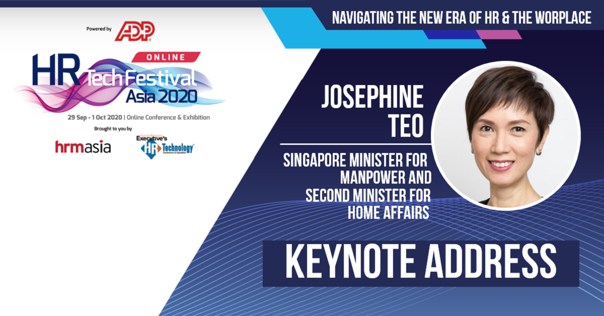 Minister for Manpower Mrs Josephine Teo Delivered the Keynote Address at the HR Tech Festival Asia 2020