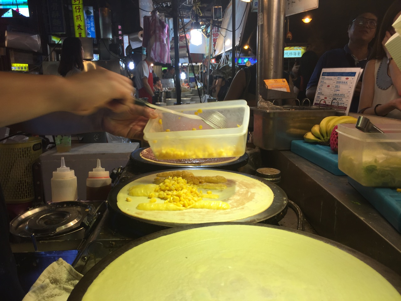 Crepes with corn