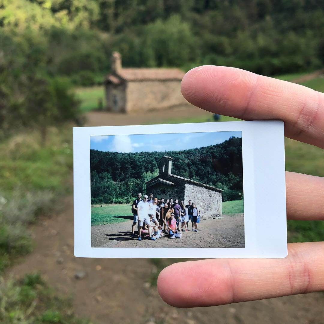 A group polaroid photo
