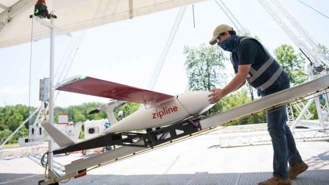 Zipline drones deliver supplies and PPE to US hospitals