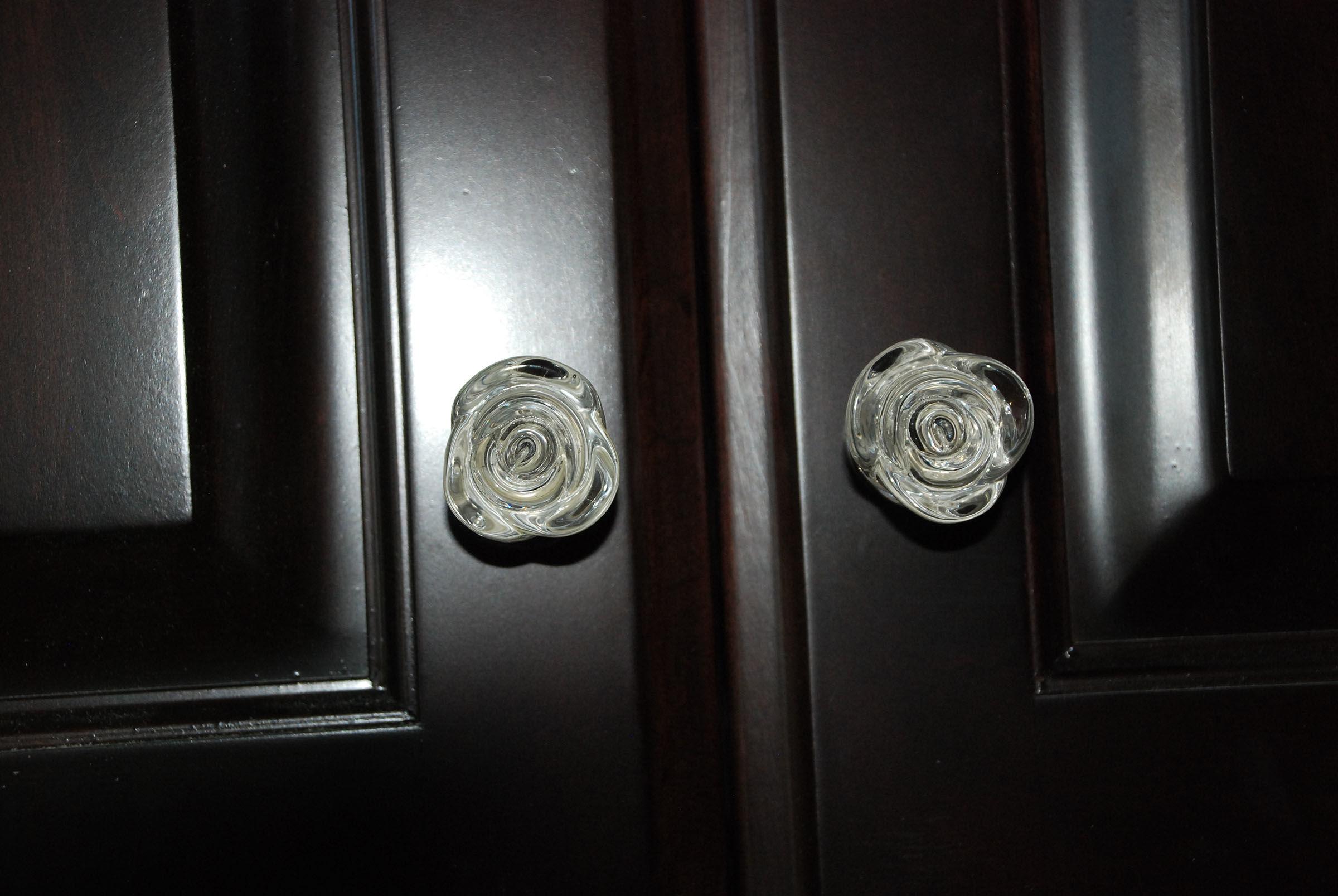 Glass Flower Door Knobs