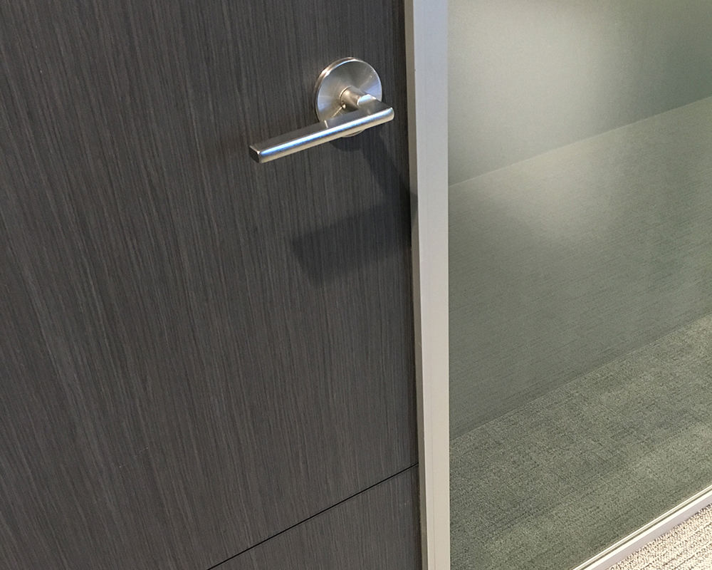 Wooden Door with Frosted Glass Side Lite