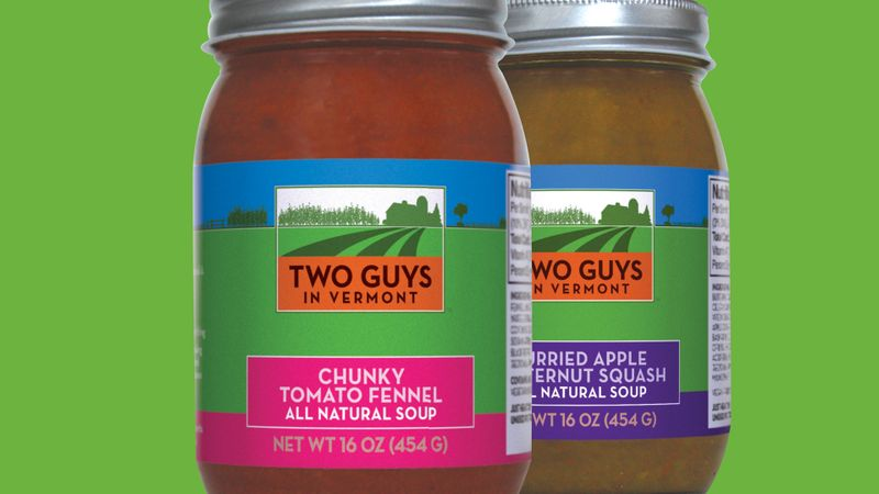 Two Guys in Vermont packaging