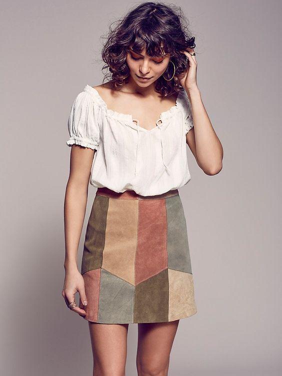 Jupe patchwork couleur
