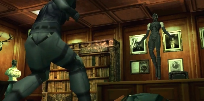 Metal Gear Solid, PSX, Psycho Mantis faces Snake