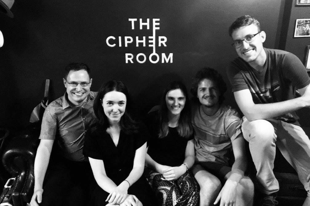 Escape room (2018): Ivan, Clare, Maggie, Stefano, Thijs