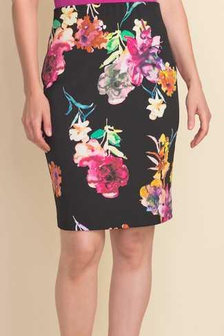 Joseph Ribkoff Floral Pull-On Skirt