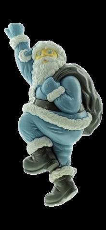 Blue Climbing Santa photo