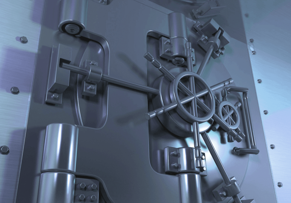 Closed vault depicting reliability on Ease's servers