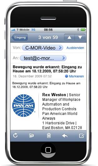 side-by-side email signature wraps on smartphone