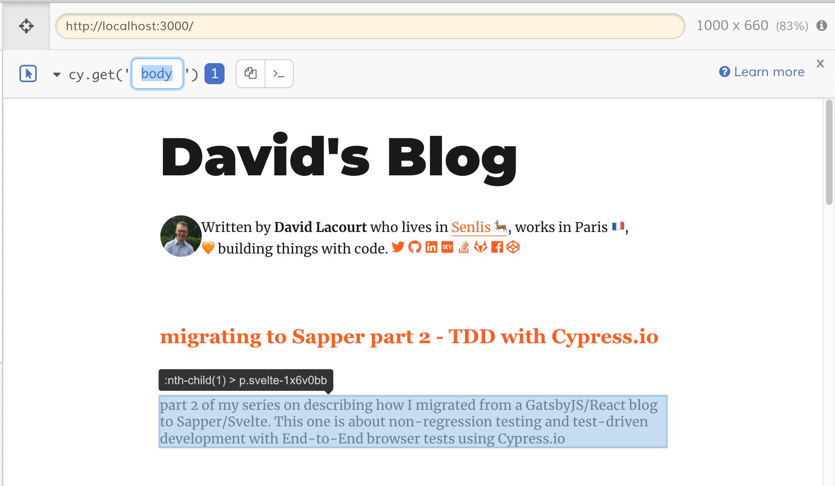 Cypress CSS Selector