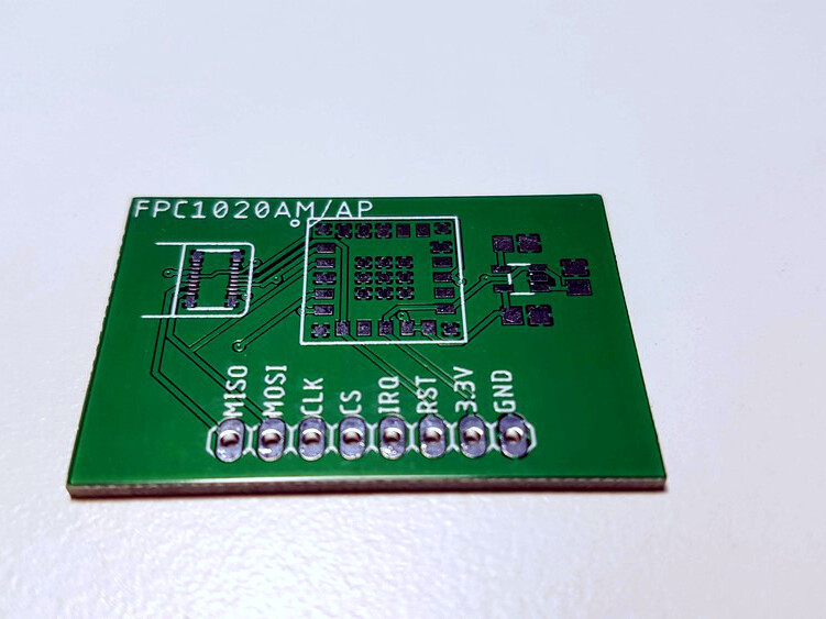Test board for FPC1020 fingerprint scanners