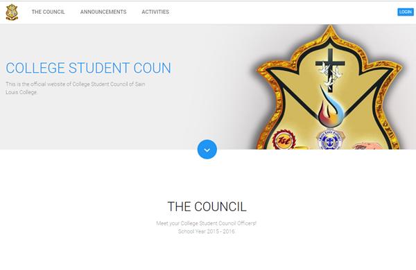 College Student Council Information System: Saint Louis College