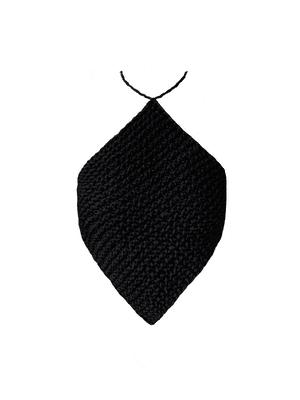 Knitted Halterneck Top, Black