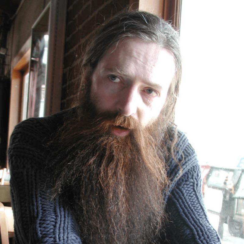 Headshot of Aubrey de Grey
