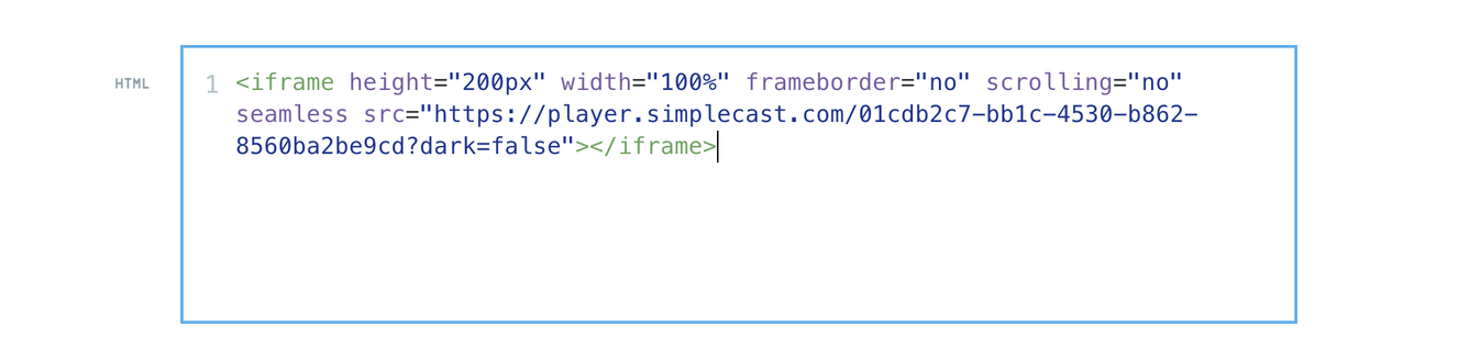 Podcast Embed Code