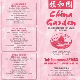 china garden newlyn penzance