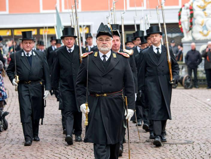Hauptmann Oskar Aschauer führt auch in diesem Jahr die Manschaft