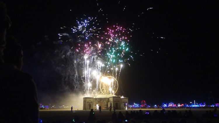 Burning Man 2016 Fireworks