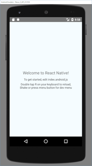 AwesomeProject on Android