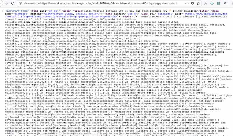 The source code from the Skinny Guardian website