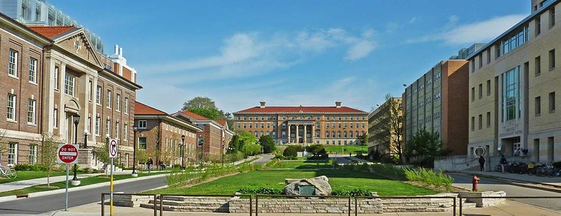 Campus view of the University of Wisconsin