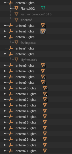 lanterns in blender