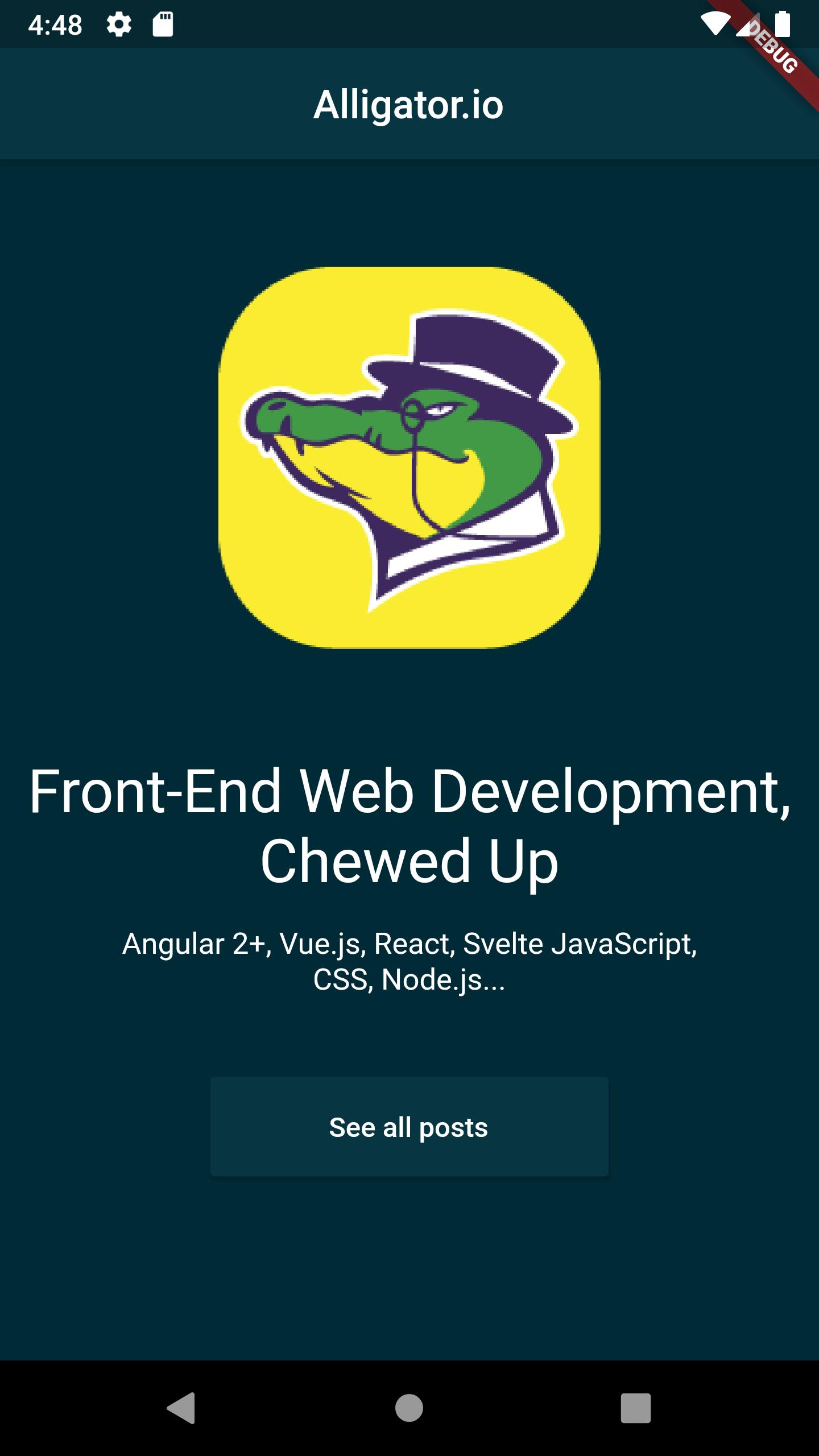 App screenshot example