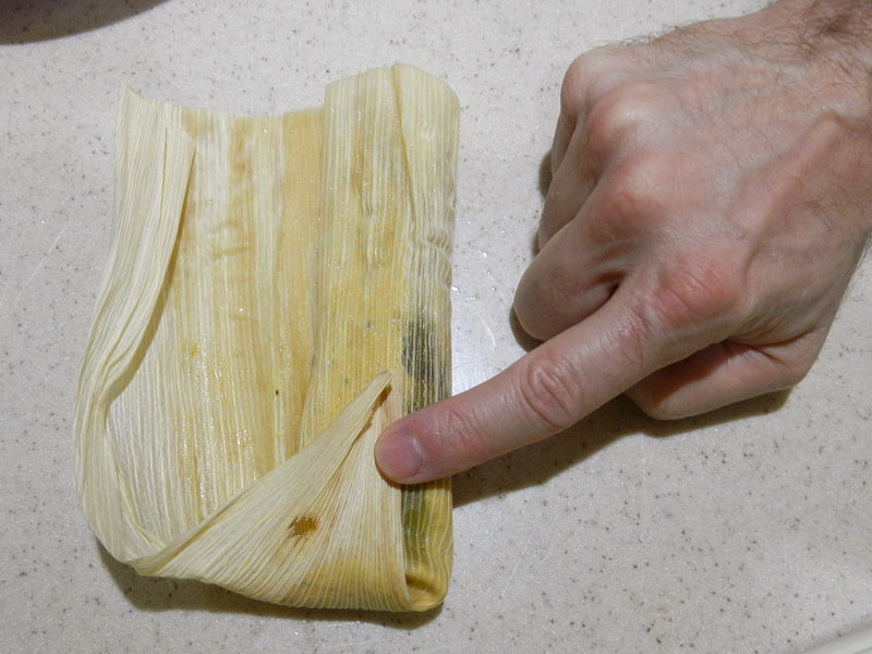 Wrapping the Tamale Step 2