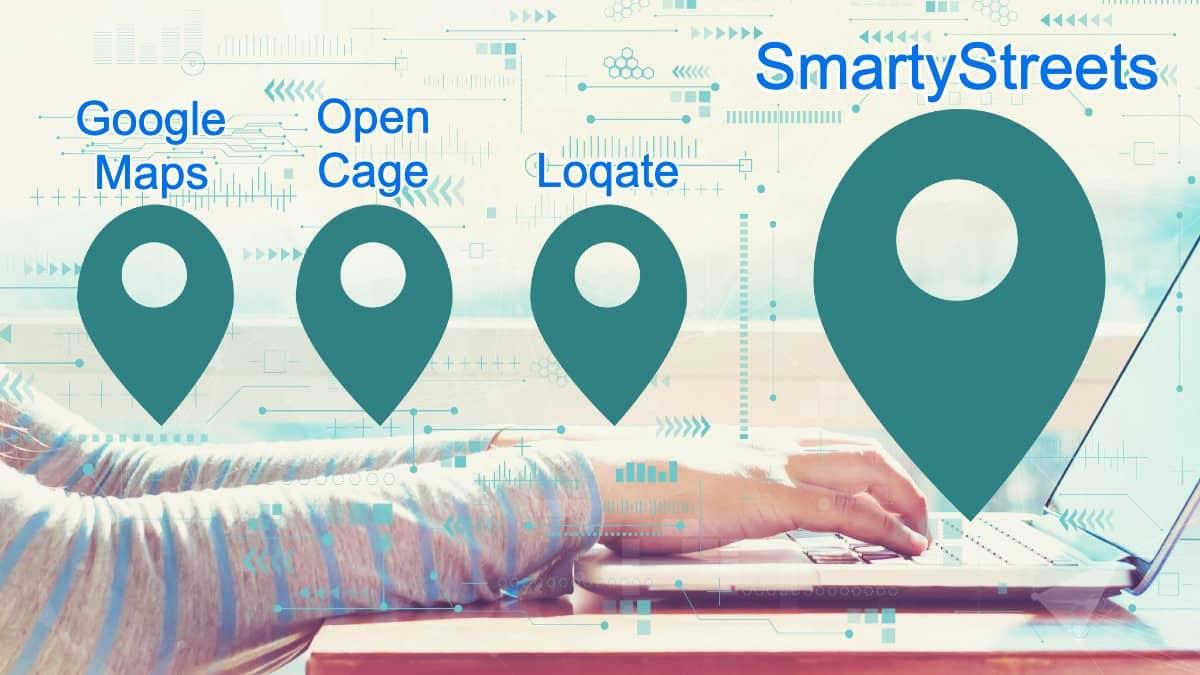 Popular Geocoding Services Map