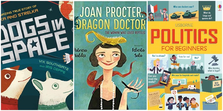 Dogs in Space, Joan Procter: Dragon Doctor, Usborne Politics for Beginners