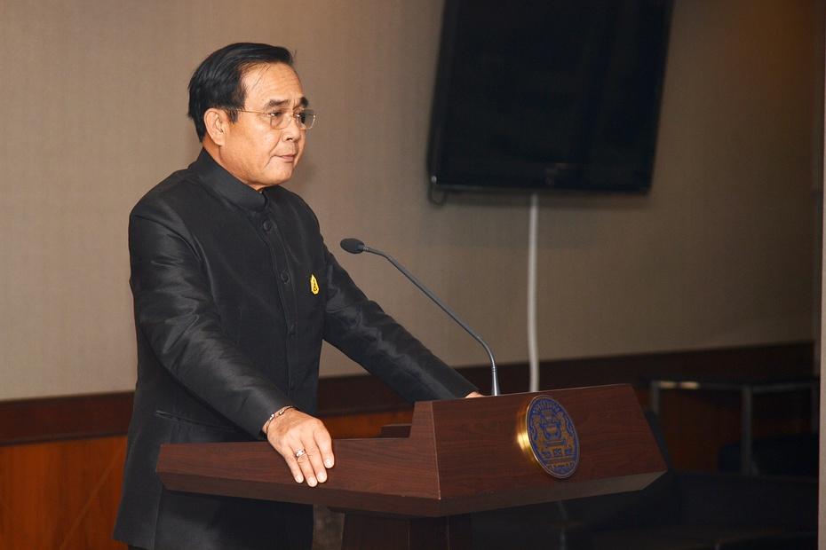 Prayuth Chanocha spricht zur Presse