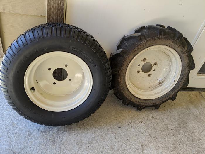 Yanmar Tractor Tires Front Swap