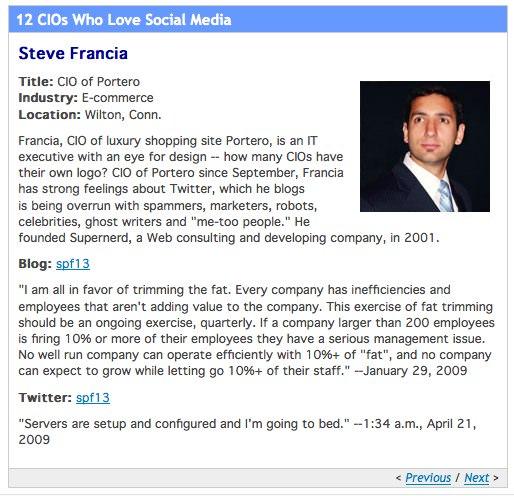 12 CIOs Who Love Social Media-2 by steve.francia, on Flickr