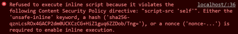 content security policy error