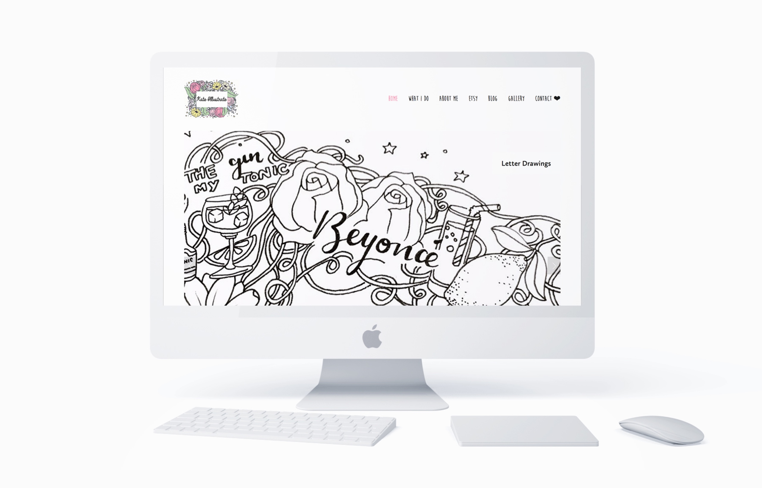 Website design for Kate Illustrate