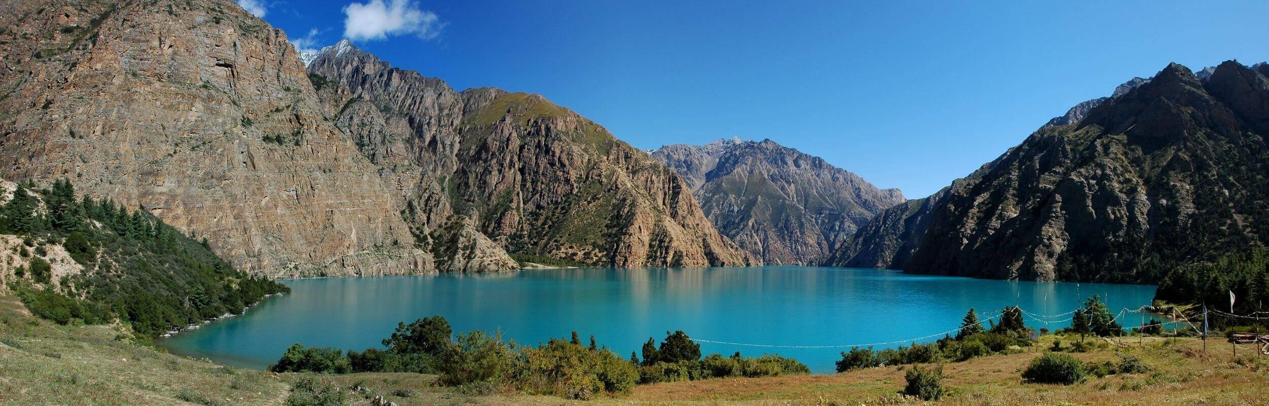 Panoramic View of Phoksundo Lake.