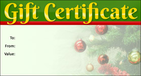 Gift Certificate Template Christmas 06
